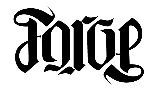 A Good Friend Is Planning New Tattoo And Wanted To Include The Word Forge In Gothic Lettering I Used An Ambigram Builder Start Design Then